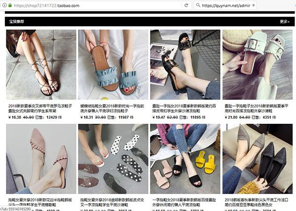 Tìm mua hàng giày dép trên các website Trung Quốc