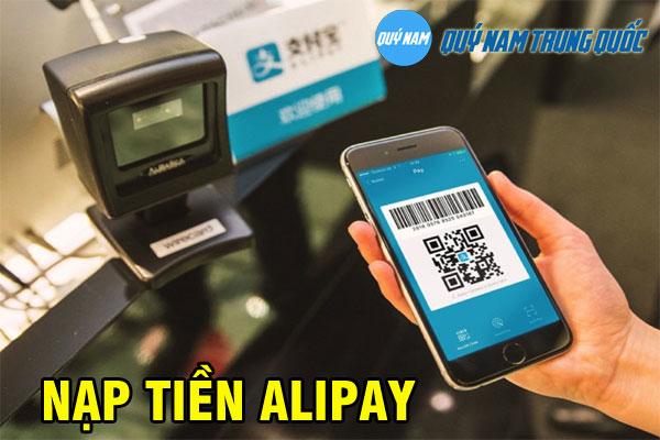 Cách nạp tiền vào Alipay